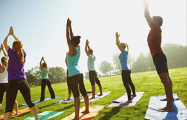 JAMA yoga outside