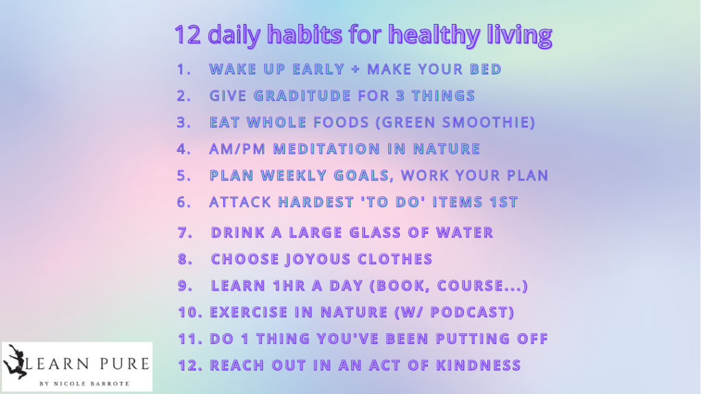 12 habits for healthy living